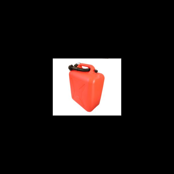 Bensinkanne / Jerrykanne i Plast - Rød