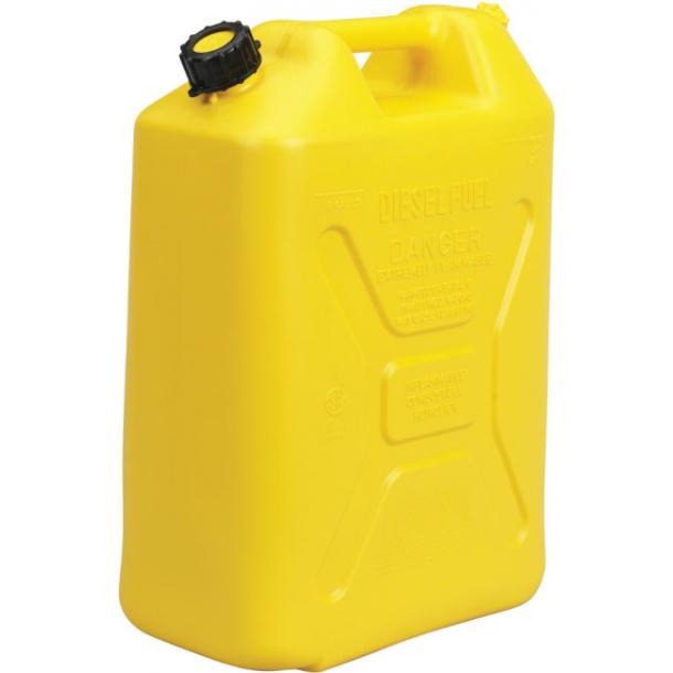 Jerrykanne i plast gul 20L