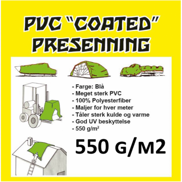 PVC Presenning, 550gr