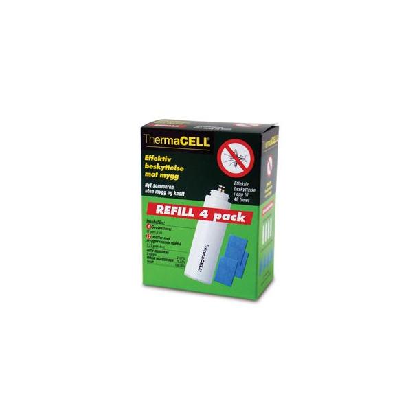 ThermaCell Refill 4 pk R4 Inneholder 4 gasspatron og 12 matter