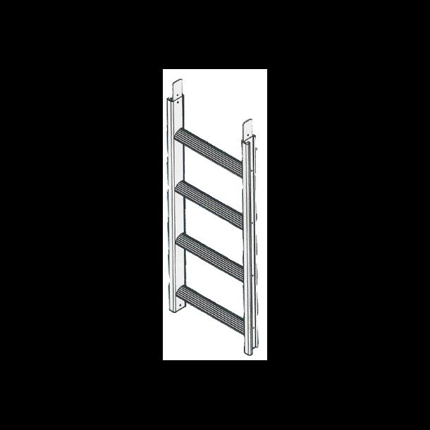 4 trinn påbyggingsmodul Badestige / Bryggetrapp