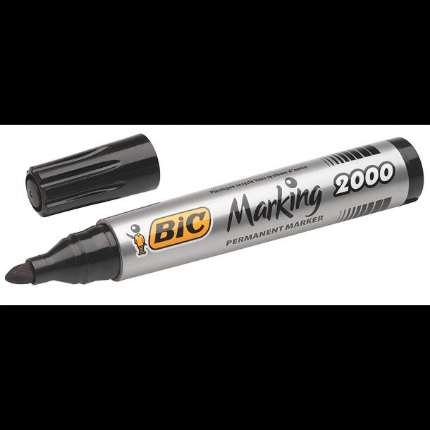 Sprittusj / Vannfast merkepenn BIC Marking 2000 Sort