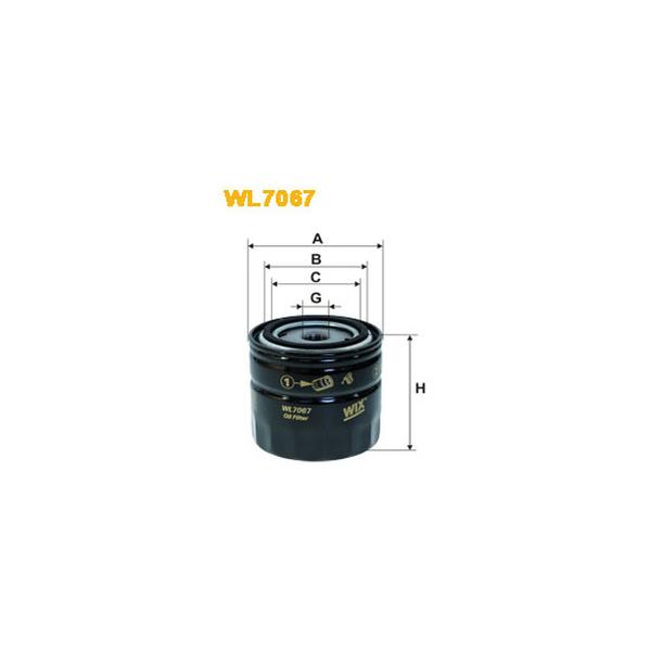WIX Oljefilter WL7067