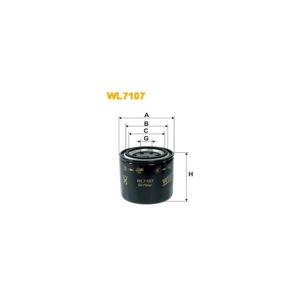 WIX Oljefilter WL7107