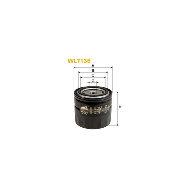 WIX Oljefilter WL7135